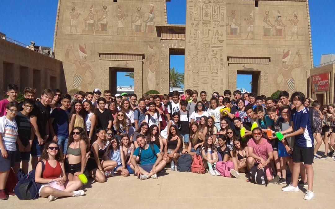 Los alumnos de 2º ESO disfrutan del viaje de fin de curso.